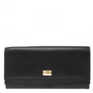 Cerruti 1881 Black Leather Cerrutis Flap Wallet