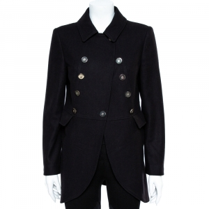 CH Carolina Herrera Black Wool Coat M