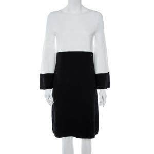 CH Carolina Herrera Monochrome Knit Bell Sleeve Dress S - used