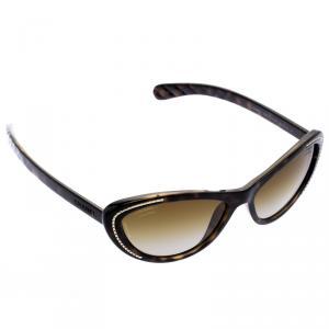 Chanel Brown 6039 Chain Detail Cat Eye Sunglasses