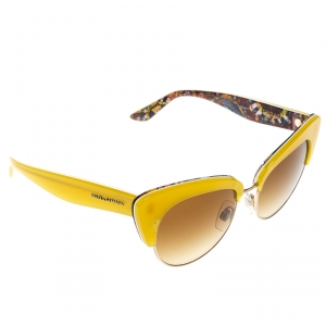 Dolce & Gabbana Yellow/ Brown Gradient DG4277 Sicilian Carretto Cateye Sunglasses