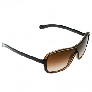 Chanel Brown/Brown Gradient 6043 Chain Link Shield Sunglasses