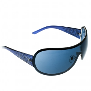 Chanel Blue 4148-B Embeliished CC Logo Shield Sunglasses