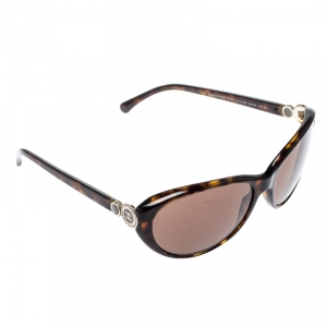 Chanel Tortoise/Brown 5190 Collection Bouton Oval Sunglasses