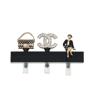 Chanel CC Smartphone Dust Plugs, A Set Of Three Charms