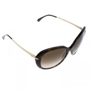 Chanel Brown Tortoise 5293-B Oversized Sunglasses