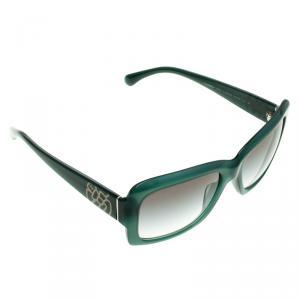 Chanel Green 5249 Camellia Print Sunglasses