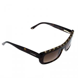 Chanel Brown Havana 5130-Q Rectangular Sunglasses