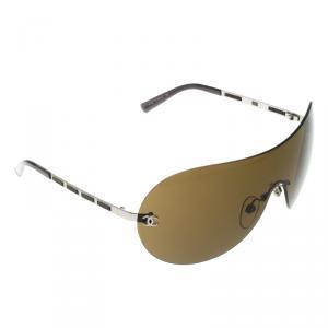 Chanel Brown 4118 Shield Sunglasses