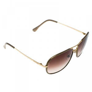 Chanel Gold/ Brown Gradient 4162Q Aviator Sunglasses