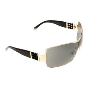 Chanel Gold/Black 4177 Perle Collection Shield Sunglasses