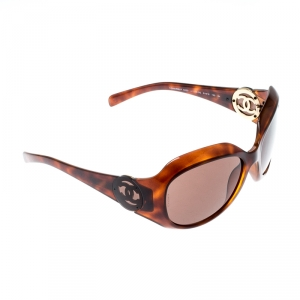 Chanel Havana/Brown 6033 Oversize Sunglasses