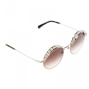 Chanel Gold/Brown Gradient 4234-H Round Sunglasses