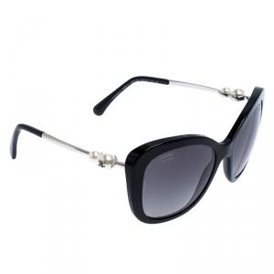 نظارة شمسية شانيل 5339-H لؤلؤ سوداء كبيرة