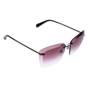 نظارة شانيل فراشة بلا حواف 4221 متدرجة وردية/ لون فضي