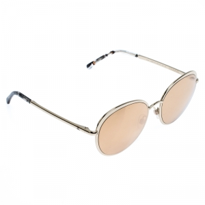 Chanel Gold Mirror 4206 Round Sunglasses