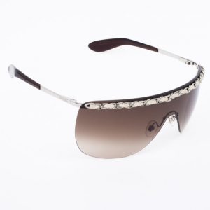 Chanel Rimless Shield 4160-Q Chain Women Sunglasses