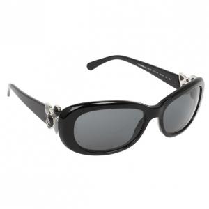 Chanel 5181-B Black Rectangle Women Sunglasses
