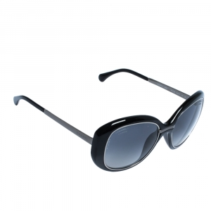 Chanel Black/ Grey Gradient Polarized 6045-T Oversized Sunglasses