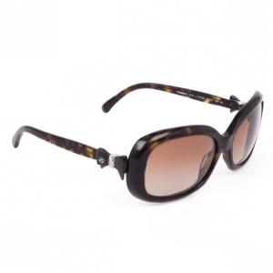 Chanel Tortoise Frame Bow Womens Sunglasses