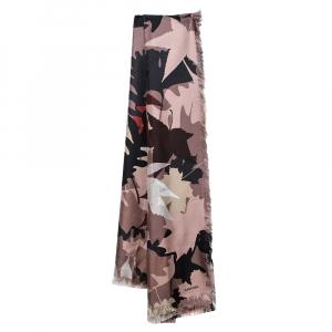 Chanel Multicolor Abstract Print Silk Scarf