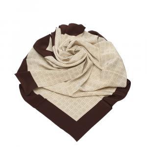 Chanel Cream Silk  Scarf