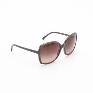 Chanel Brown Oval Plastic Sunglasses