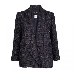 Chanel Multicolor Lurex Tweed Notched Collar Blazer XL