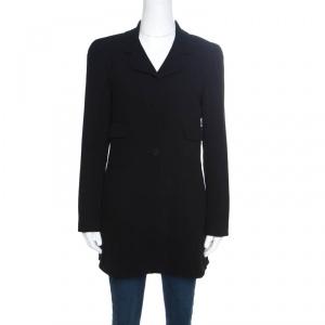 Chanel Vintage Black Wool Coat M