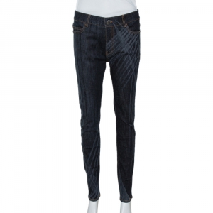 Chanel Dark Blue Dark Wash Denim Slim Fit Jeans M