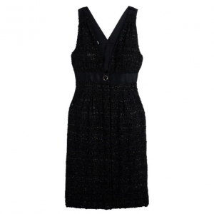 Chanel Black Tweed Dress M