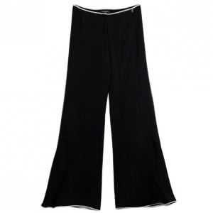 Chanel Black Silk Stretch Bellbottoms