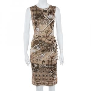 Chanel Gold Jacquard Knit Sleeveless Shift Dress S