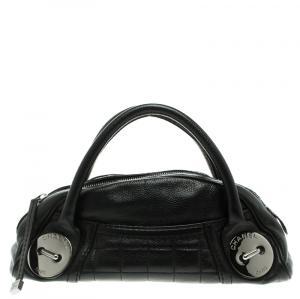 Chanel Black Caviar Leather Mini Bowling Bag