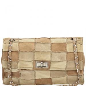 Chanel Multicolor Suede Patchwork 2.55 Reissue Flap Bag