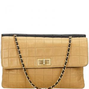 Chanel Two Tone Bar Quilted Leather 2.55 Reissue Flap Bag