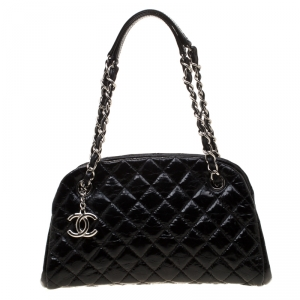 Chanel Black Quilted Leather Medium Mademoiselle Bowling Bag
