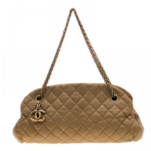Chanel Gold Leather Just Mademoiselle Bowling Bag