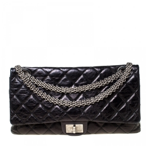 Chanel Black Quilted Leather Reissue 2.55 Classic 228 Flap Bag