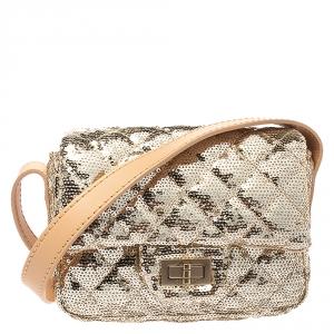 Chanel Metallic Gold Sequin Mini Reissue Bag
