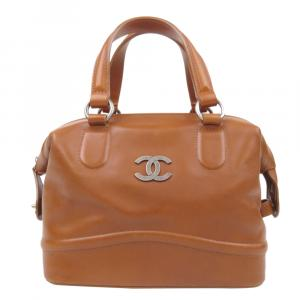 Chanel Brown Leather Country Ride Boston Bag