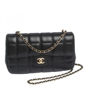 Chanel Black Chocolate Bar Leather Mini Flap Bag