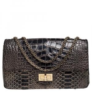 Chanel Black Crocodile and Python 2.55 Reissue Flap Bag