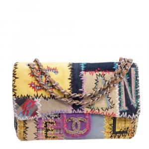 Chanel Multicolor Patchwork Classic Single Flap Bag