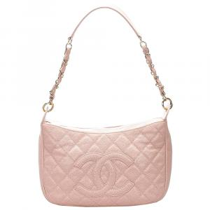 Chanel Pink Caviar Leather CC Shoulder Bag