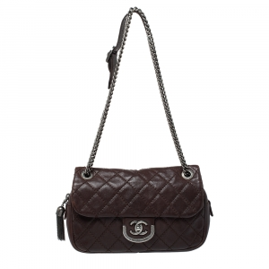Chanel Dark Brown Quilted Leather Medium Coco Sporran Shoulder Bag