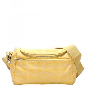 Chanel Yellow Nylon Travel Line Bag