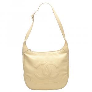 Chanel Yellow Caviar Leather Vintage Bag