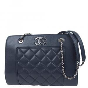 Chanel Blue Calf Leather Timeless CC Bag
