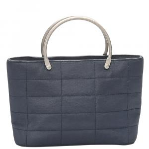Chanel Blue Lambskin Leather Vintage Tote Bag